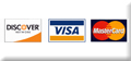 Visa, Mastercard, and Discover Accepted